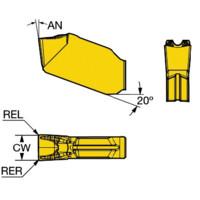 QD-NG-0300-0001-CF 1105 Ti,Al Neutral Cut Carbide 1105 Grade, Sandvik Coromant N CoroCut QD Insert for Parting