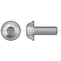 Qualfast Socket Head Flange Button Screw, Metric - Steel - Grade