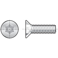 Qualfast Tamper Proof Countersunk Head Screw - Hex With Pin