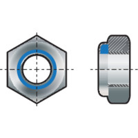 "Qty 20 Hex Nyloc Nut 5//8/"" UNC Zinc Plated Steel Grade 8 Lock Insert ZP"