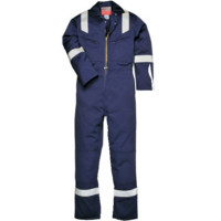 Portwest Bizflame FR50 Flame Retardant Anti-Static Coverall Boilersuit Red