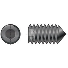 Qualfast Socket Set Screw, Metric - Steel - Grade 14 9
