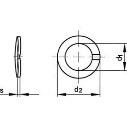Qualfast Curved Spring Lock Washer - Metric - Phosphor Bronze Cu4