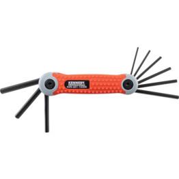 Folding Allen//Allan 8 Piece 1.5mm-8mm Hex Key Metric Expert Tool