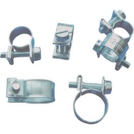 25/PK 11-13 mm Zinc Plated Double Ear Steel Automotive/Hand Tool Hose Clamp Overig