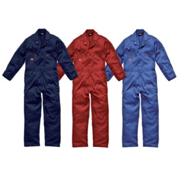 DELUXE COVERALLS 100/% COTTON RED SIZE 38 REGULAR