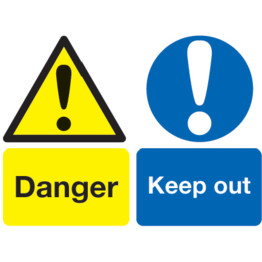 Sitesafe Danger Signs   Cromwell Tools