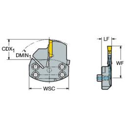 NEW SANDVIK SL70-L123H30A-HP COROTURN PROFILING HEAD