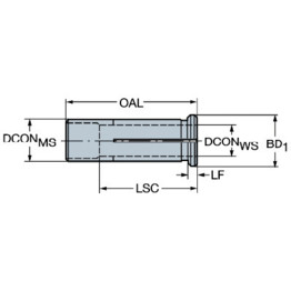 Cutting Tools Sandvik Coromant 393.CF-3215.760 Cylindrical Sleeve