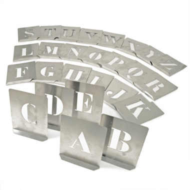 """Stencils Set of Brass Interlocking Stencils 2/"""" 50mm Figures Numbers 0-9"""