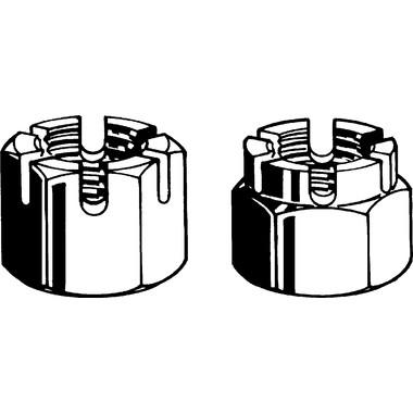 Fab9 SLOTTED CASTLE NUT  M10 x 1.25 MF METRIC FINE PITCH DIN935-1 CLASS 6