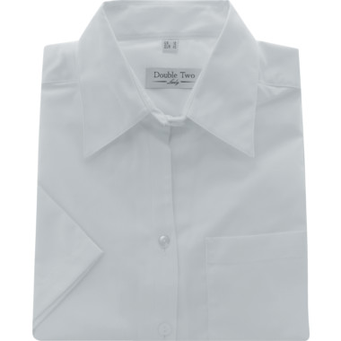 9497a7884a7e76 Double Two Men's 16in Short Sleeve Pale Blue Oxford Shirt | Cromwell ...