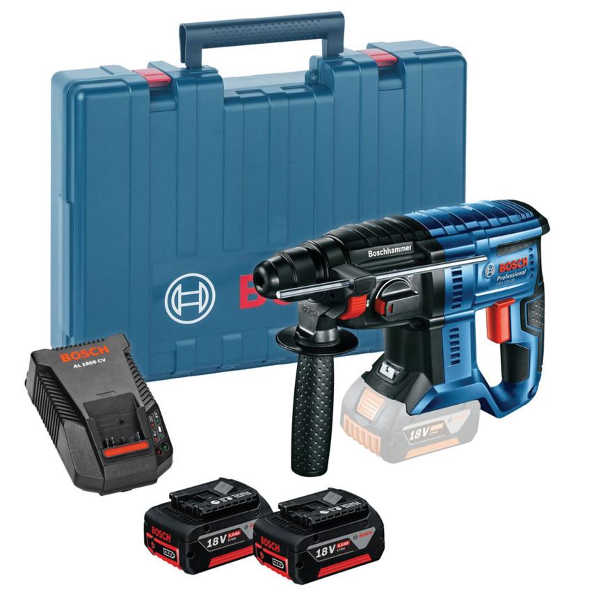 Bosch GBH 18V-20 18v Cordless Sds Drill 2 x 5.0Ah Batteries Charger 0611911073