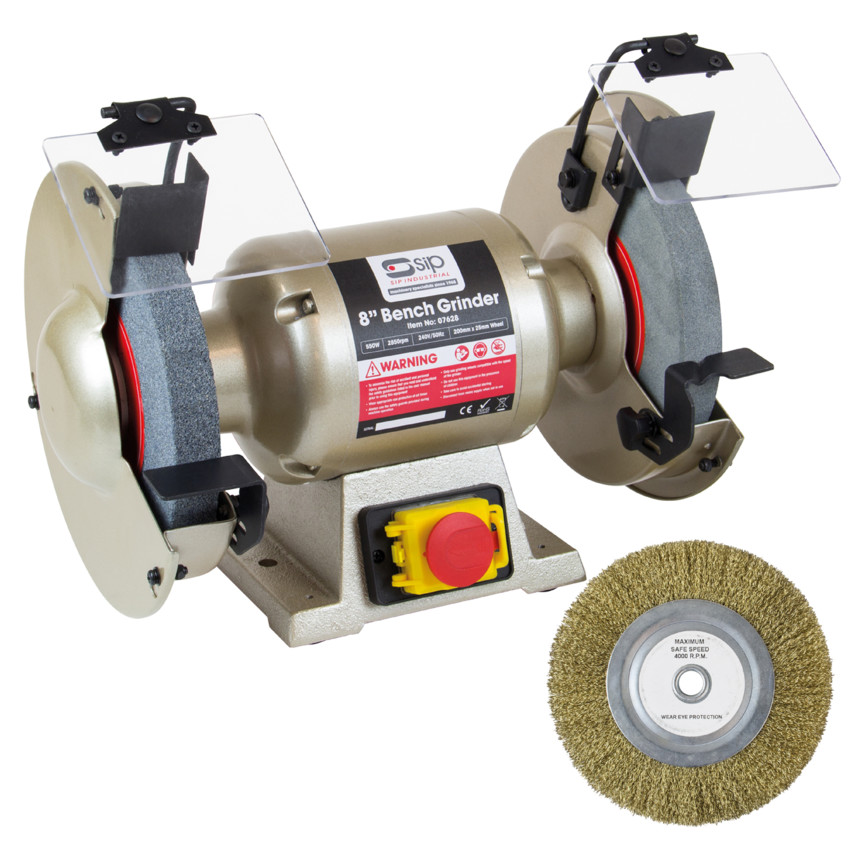 Excellent 07628 Professional Bench Grinder 8In 200Mm 230V Alphanode Cool Chair Designs And Ideas Alphanodeonline