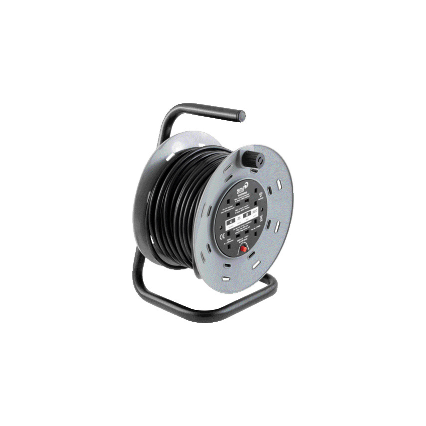 Unbranded) 25M H/D CABLE REEL 4 SKT13 AMP T/CUT OUT CTH2513 ...