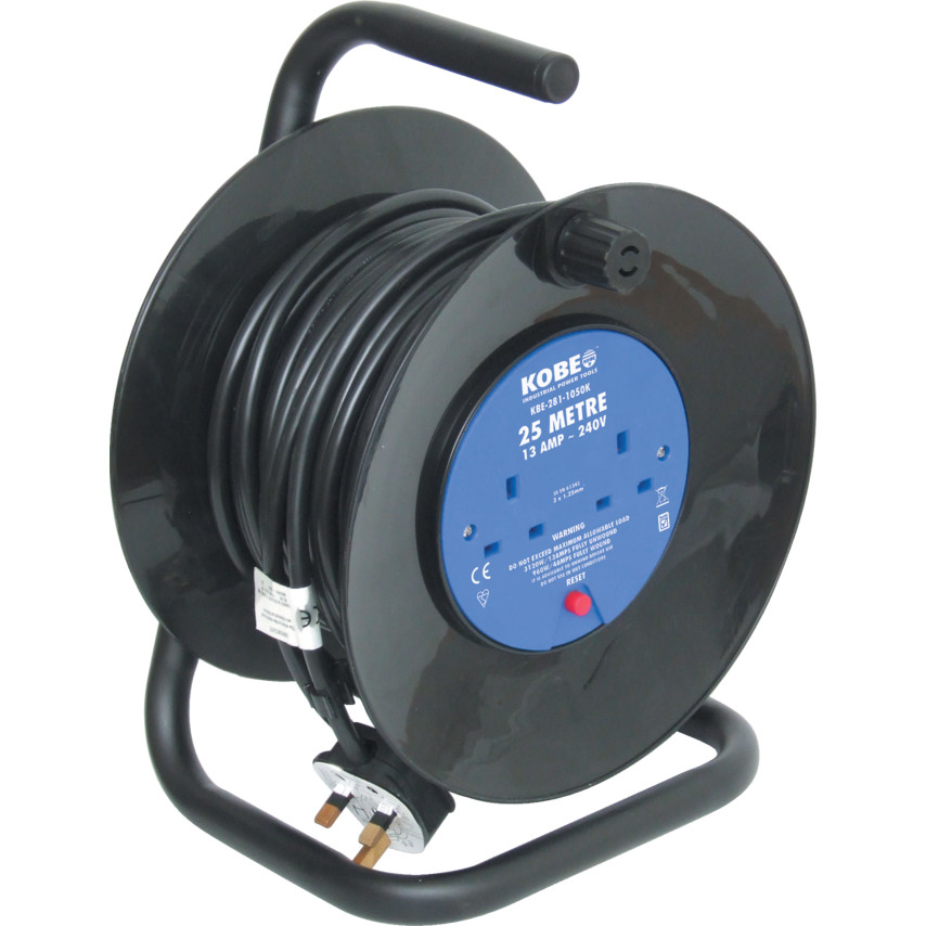 Kobe 25M LIGHT DUTY CABLE REEL 240V 4020 | Cromwell Tools