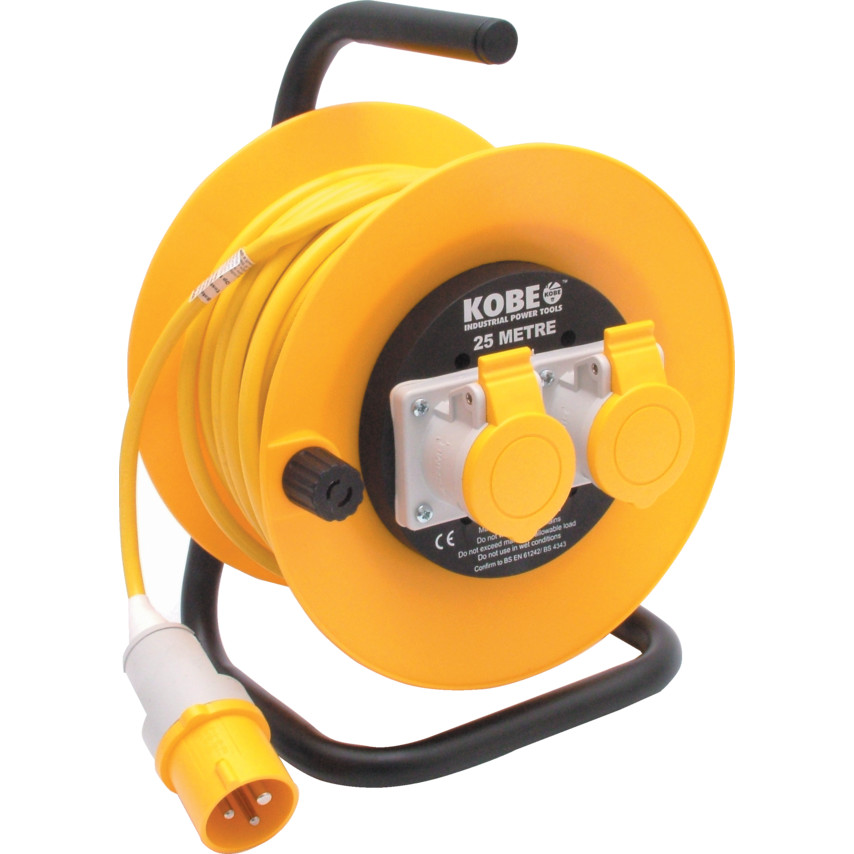 25m 110V Open Drum Cable Reel 25M 16 AMP CABLE REEL