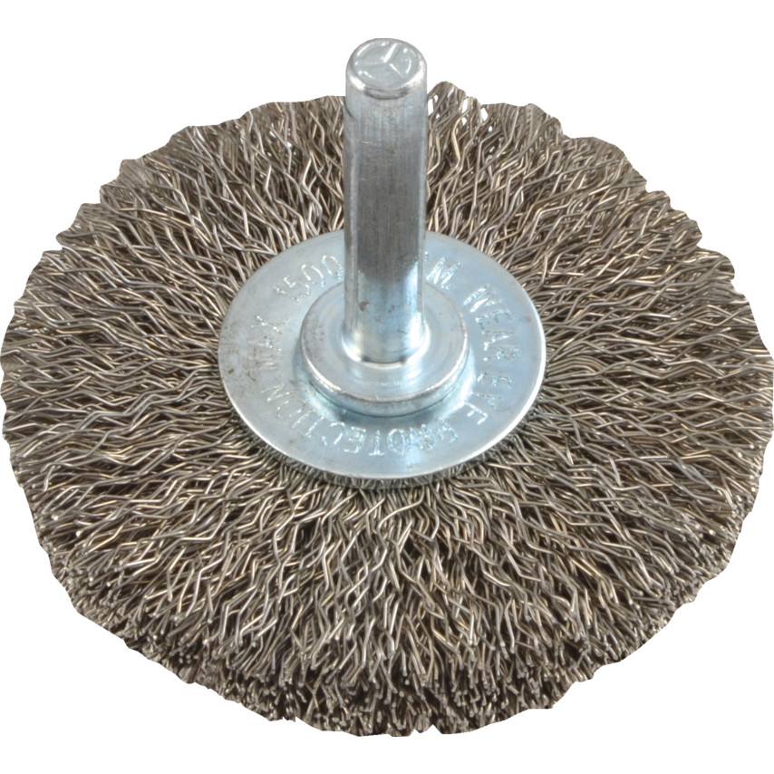 York 63x9mm Shaft Mounted Circular Brush, Crimp Wire,Stainless Steel ...