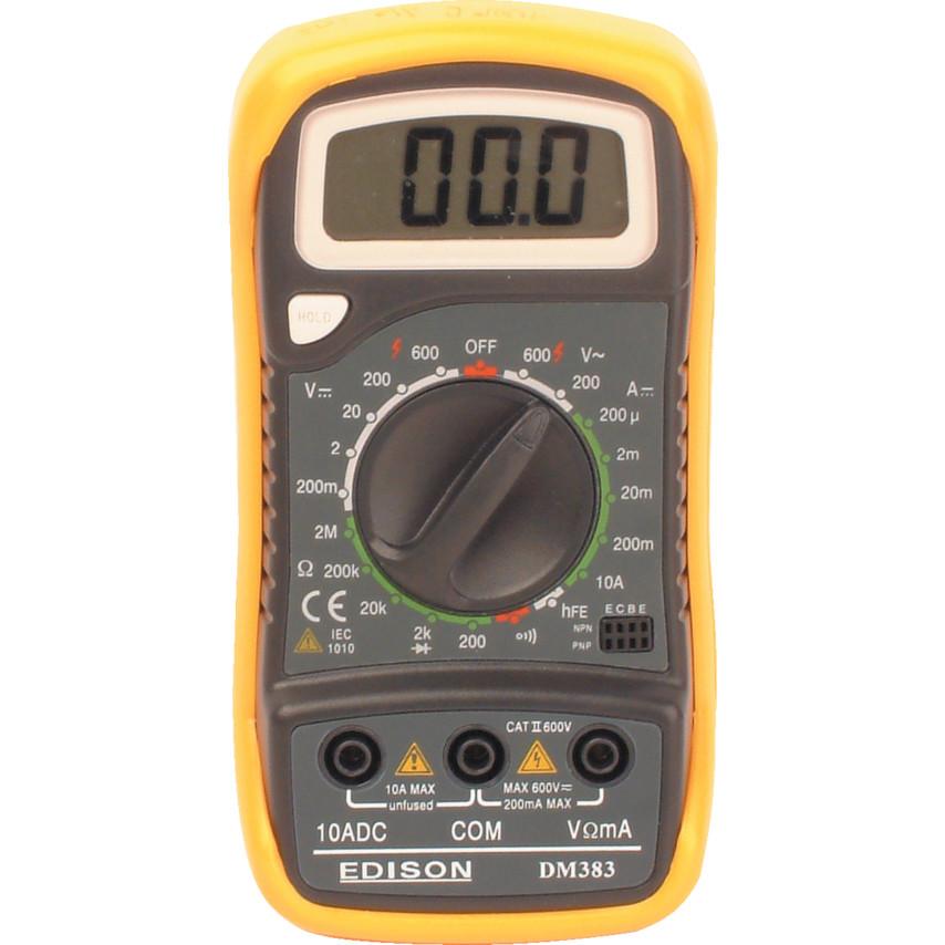 Edison Dm383 Digital Multimeter Mas830 Cromwell Tools