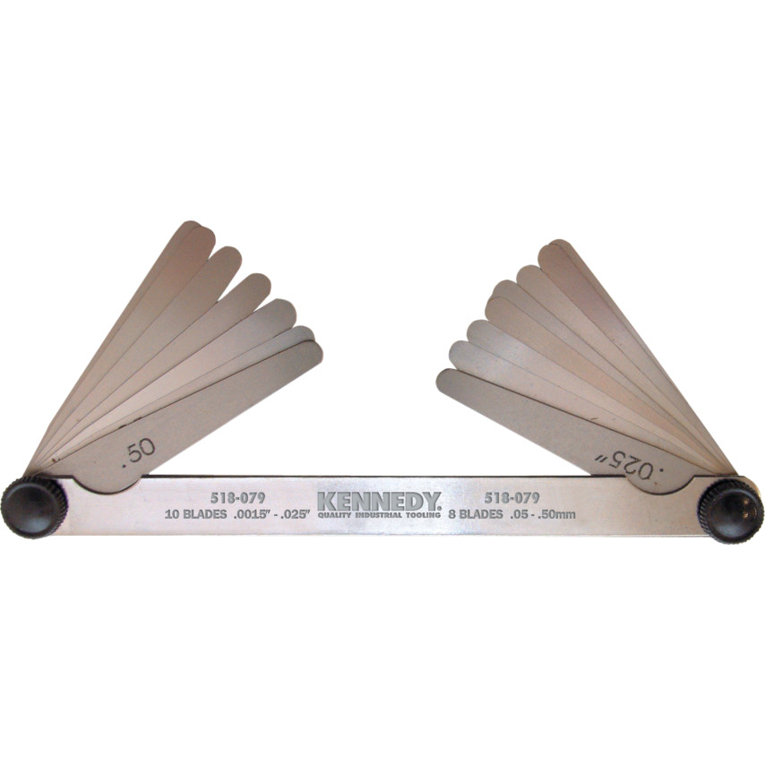 Kennedy Double Ended Imperial & Metric Feeler Gauge | Cromwell Tools