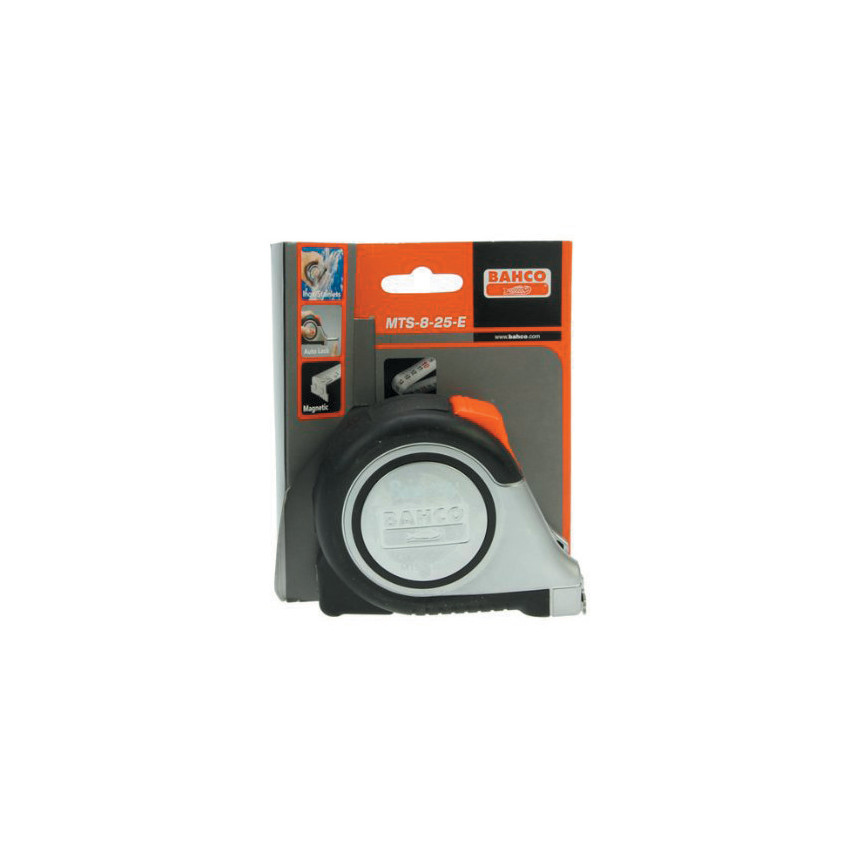 Bahco MTS825E Auto Tape 8m//26ft Reversible Magnetic Tip