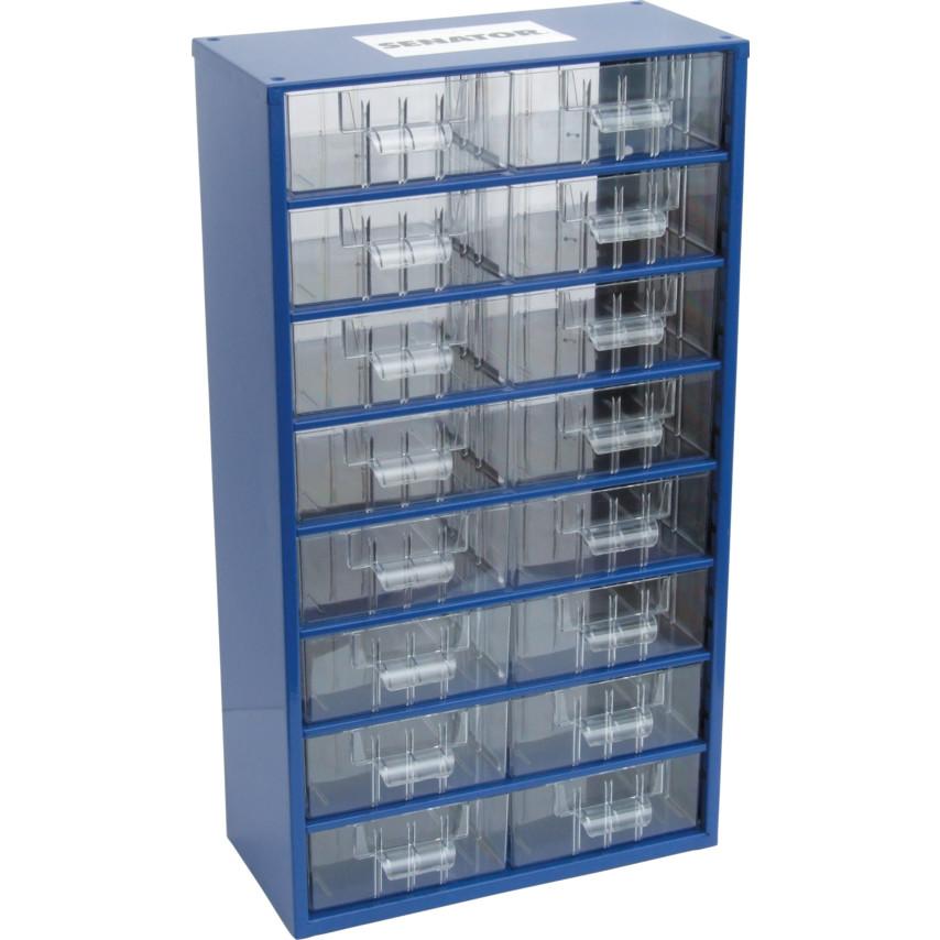 senator 16 drawer small parts storage cabinet 6752 (16)   cromwell