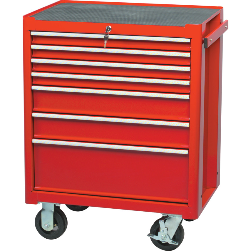 Gentil Roller Cabinets   7 Drawer RED 7 DRAWER PROFESSIONAL ROLLER CABINET ...