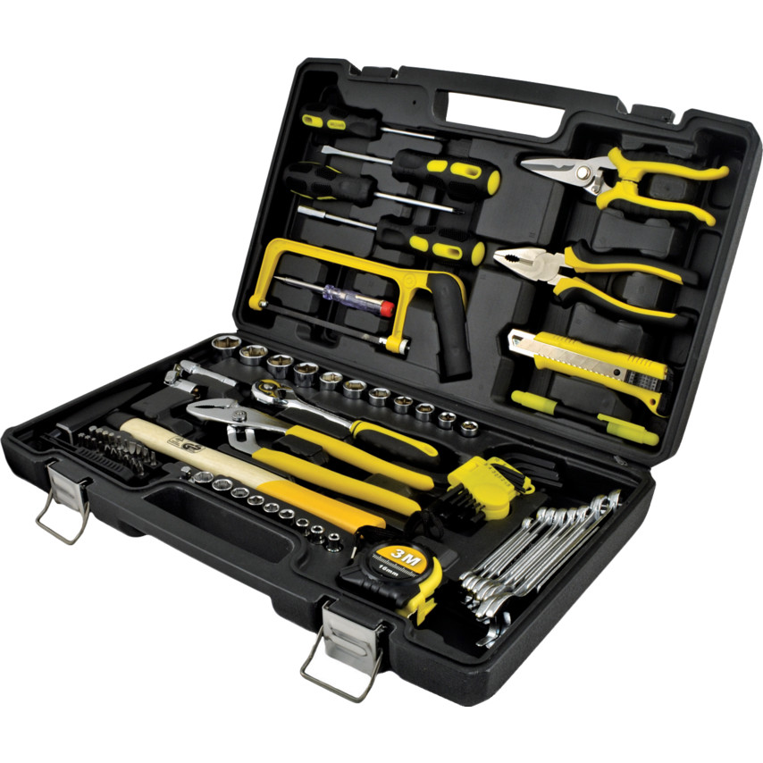 f985b322256 79 Piece Basic Handyman   Engineers   Workshop Maintenance Tool kit 79 PIECE  TOOL KIT IN ...