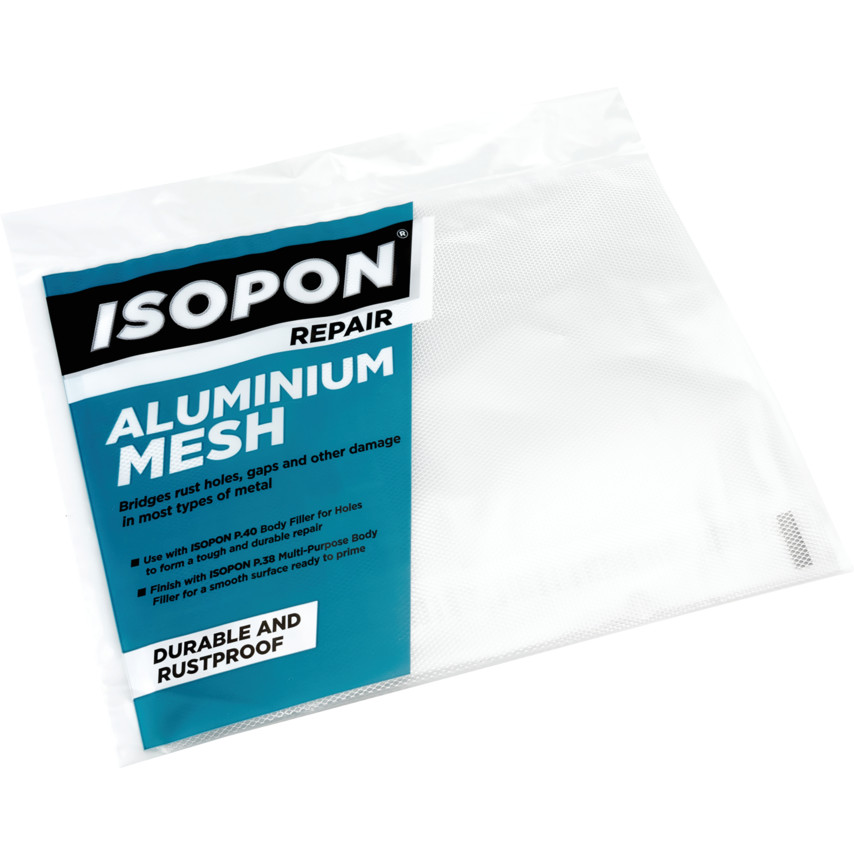 Isopon PM/1 PERFORATED METAL SILVER 250mm x 200mm - Pack of 5 PM1 |  Cromwell Tools