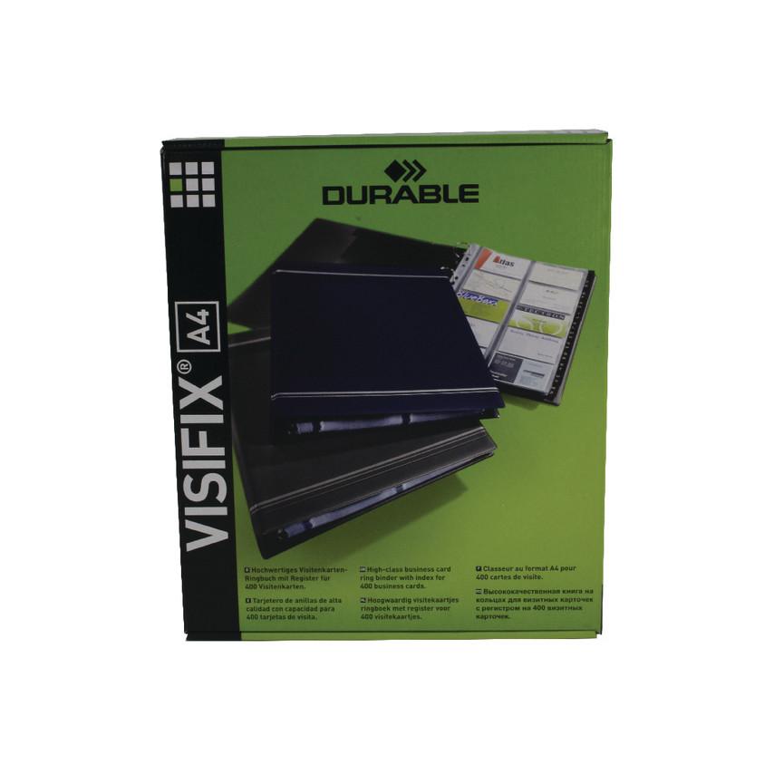 Durable 2388/58 VISIFIX BUSINESS CARD ALBUM A4 GRY DB20889 ...