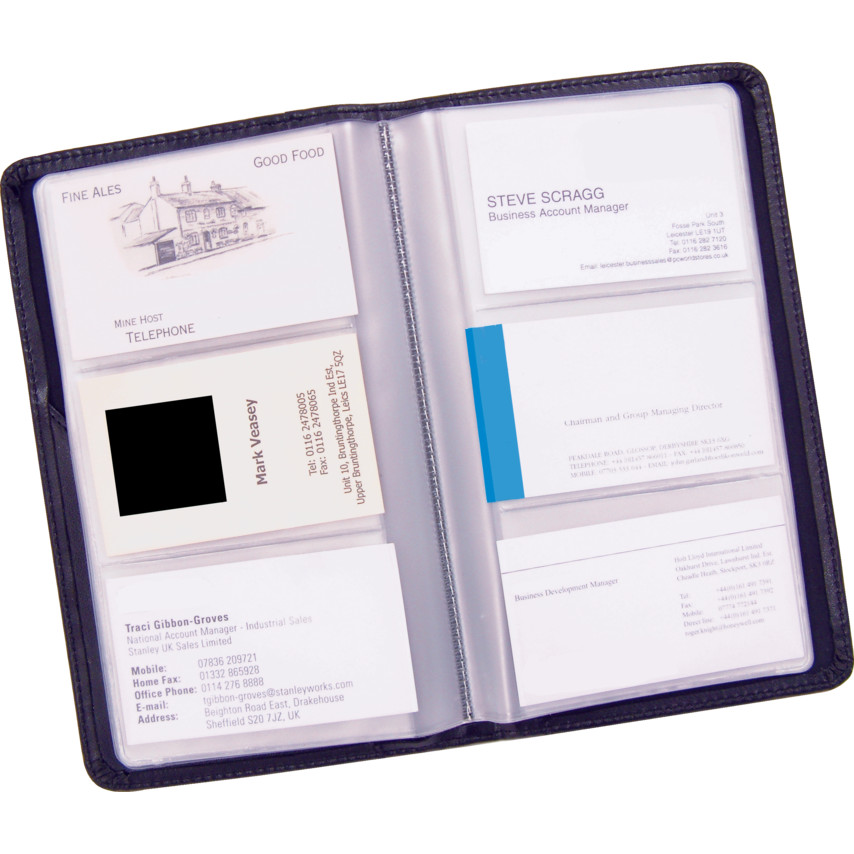 Offis BUSINESS CARD HOLDER (96CARDS) BLACK | Cromwell Tools