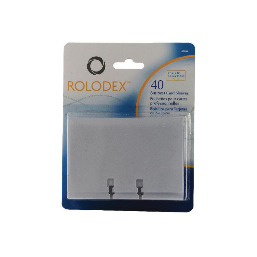 Rolodex 67691 ROLODEX BUSINESS CARD SLEEVES CLR (PK-40) EL67691 ...