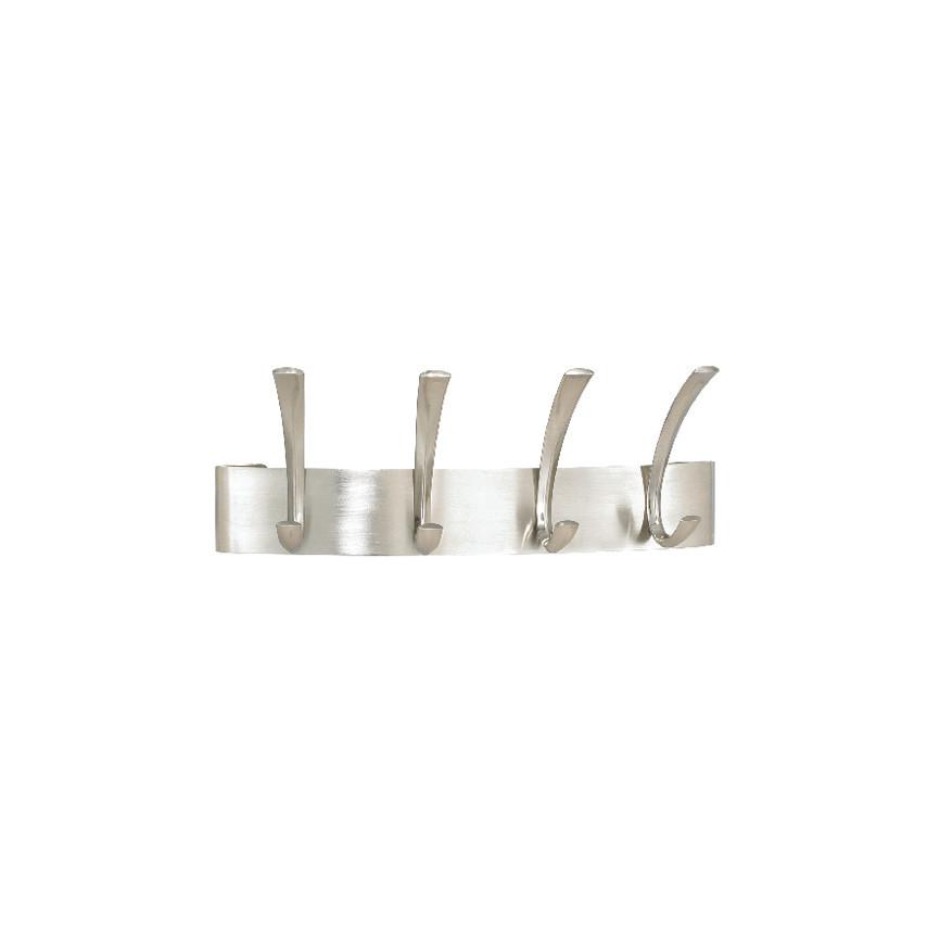 Safco Curve 4 Hook Coat Rack Silver 4205SL COAT RACK CURVE HOOK SILVER