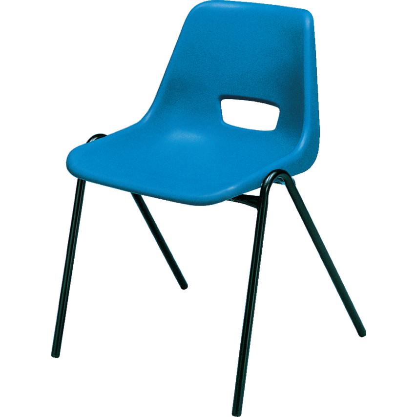 Bon Polypropylene Stacking Chairs SIRIUS POLYPROPYLENE STACKING CHAIR GREY