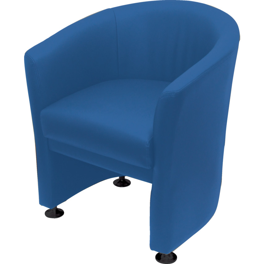 Lincoln LEATHER TUB CHAIR BLUE HS5906 BLUE | Cromwell Tools