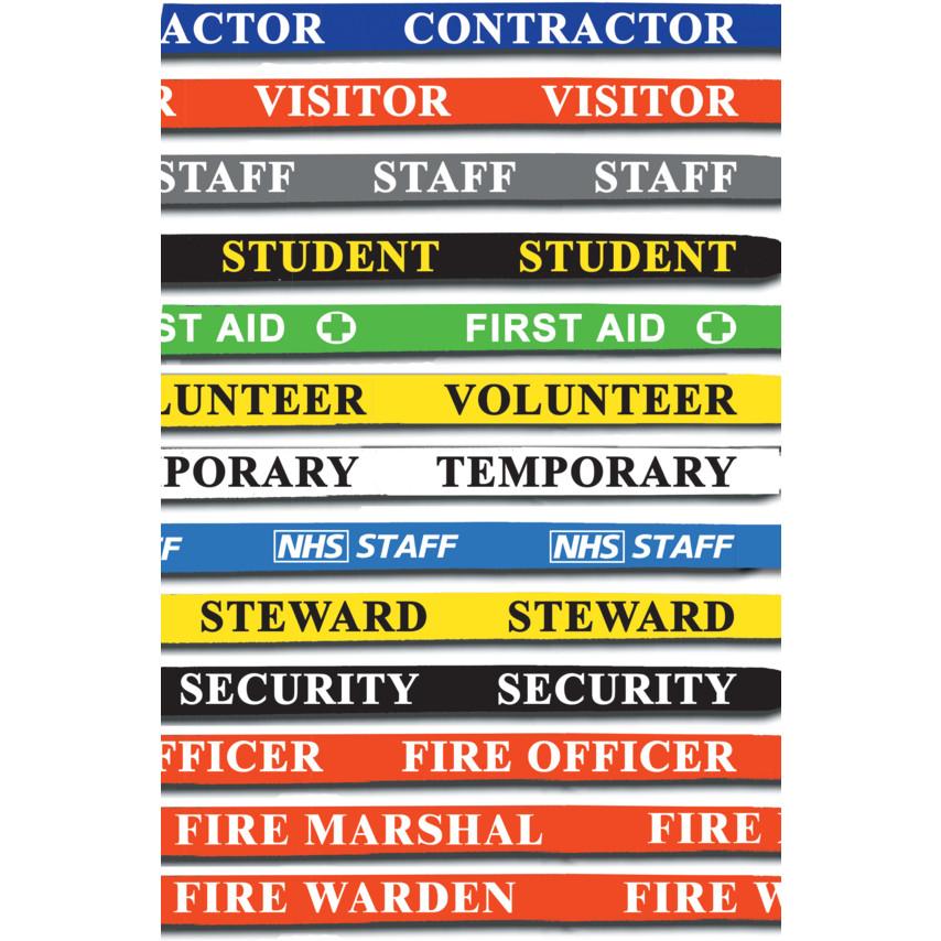 Identibadge Yellow Security Badge With Strap Pk-25