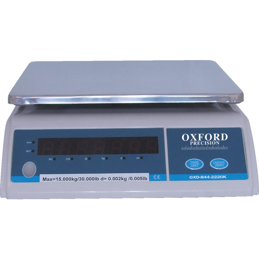 oxford electronic weighing scale 15kg 2g divisions ehw b 15kg