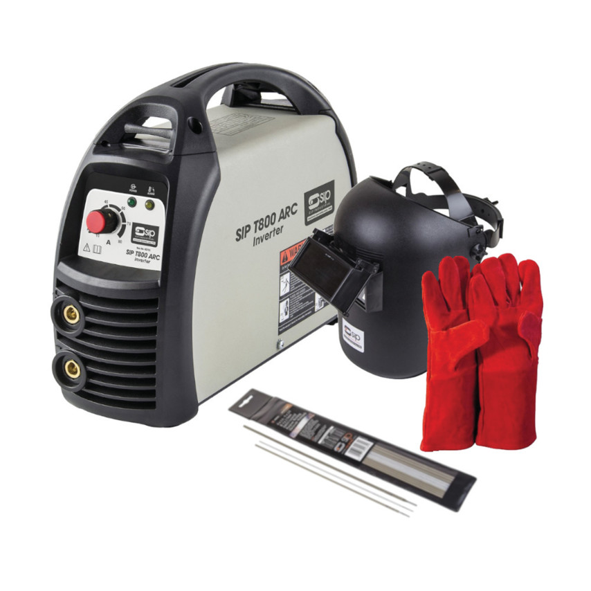 Weldmate T800 80amp ARC Inverter Exclusive* Welding Package Including Flip  Top Head Shield and Accessories - 05703 CW1