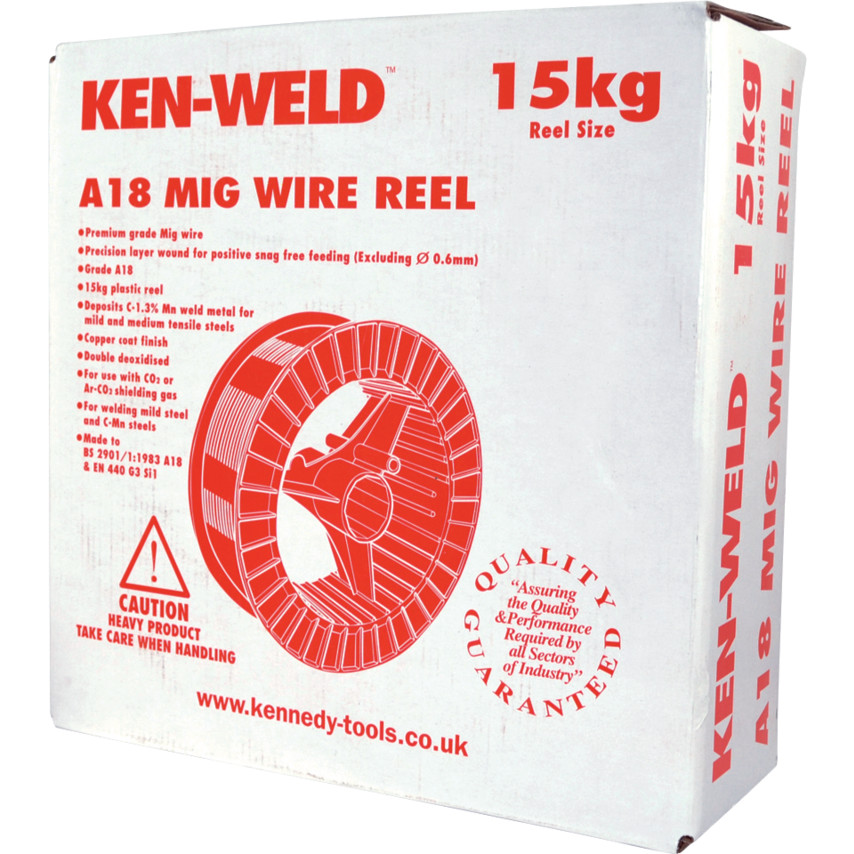 Kennedy 0.60mm - A18 Mild Steel MIG Wire - 15KG A18 0.60mm ...