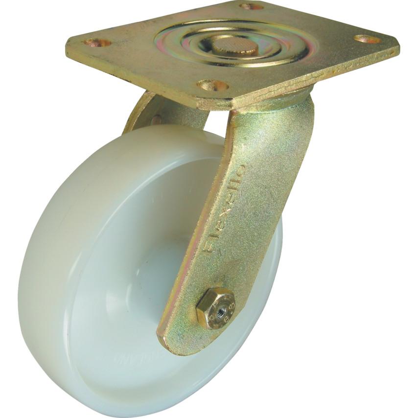 Flexello SL Ser' Swivel Plate Nylon Castor 150mm VSL150NYJHDP05 | Cromwell  Tools