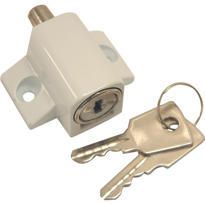 Sterling Plw100 Patio Door Lock White Plw100 Cromwell Tools
