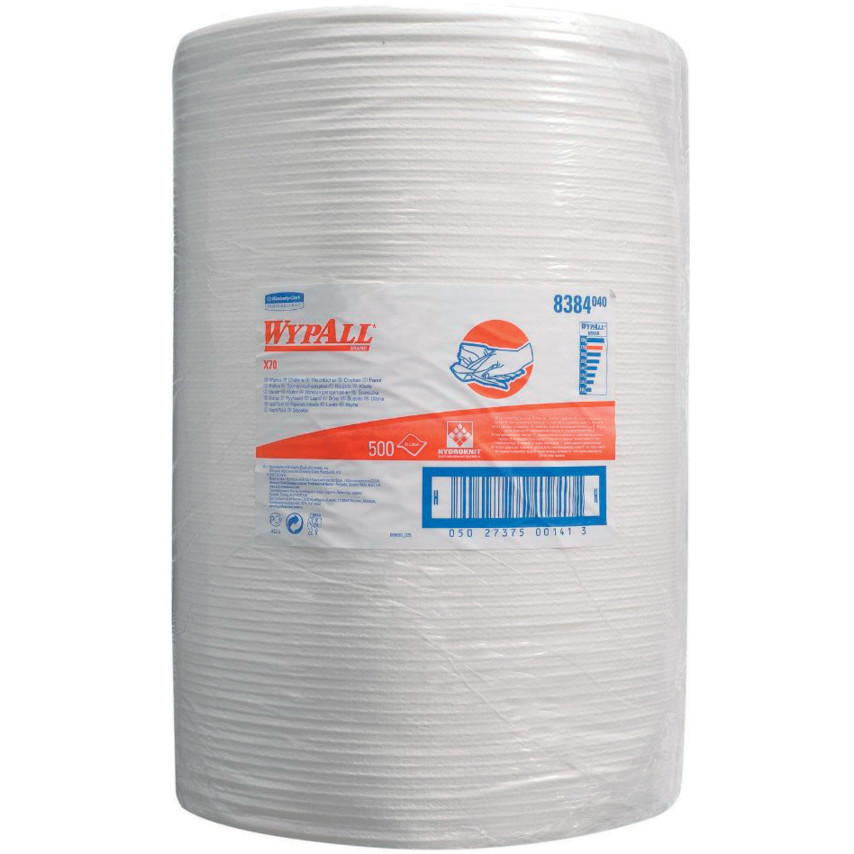 Wypall X70 Cloths Large Roll White 1 Roll 8384 8384 Cromwell Tools
