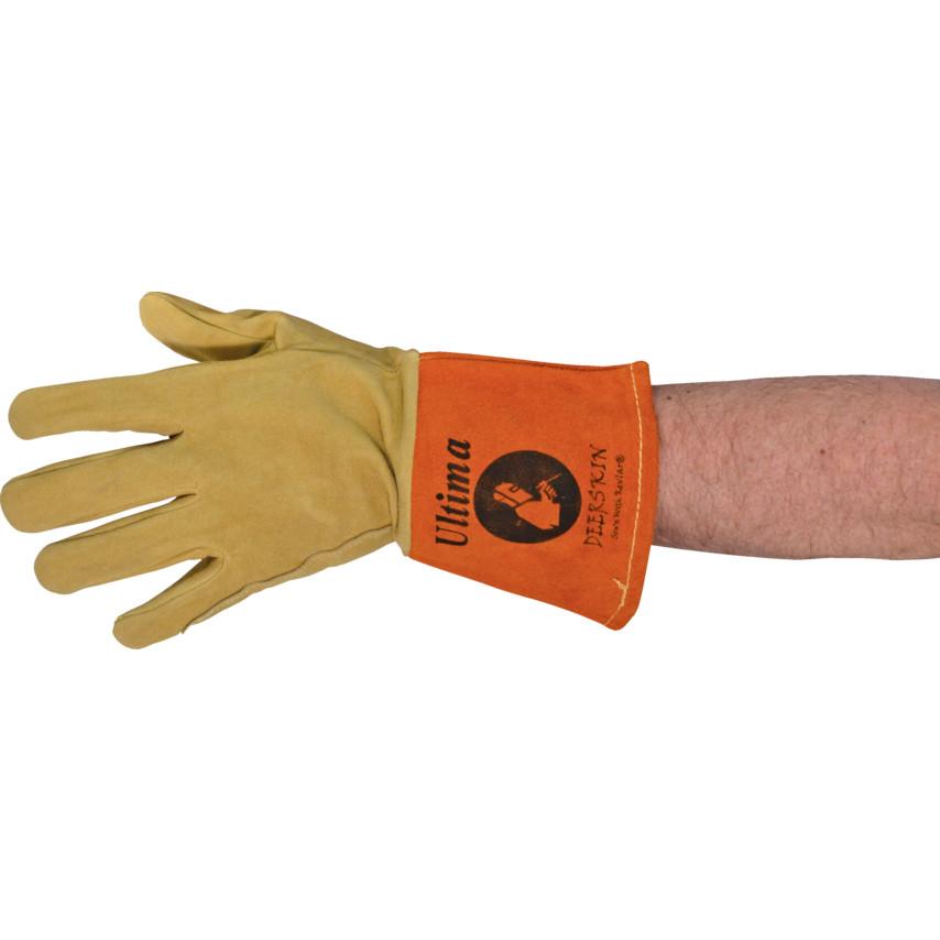 Jayco Ultima Deerskin Yellow Orange Tig Welding Gloves Size 10 Dst 555 Cromwell Tools