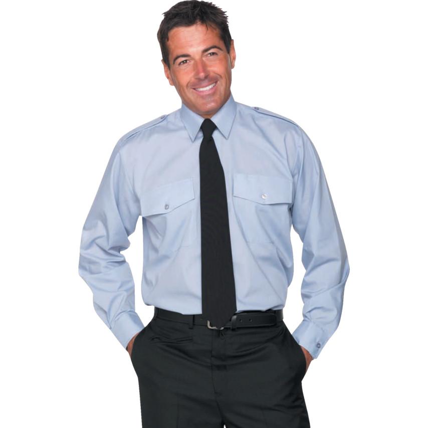 9208a53eca9 ... Men s Pilot Shirts Men s 18in Long Sleeve Blue Pilot Shirt