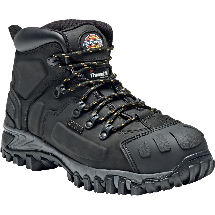 1054833f762 Dickies FD23310 Medway Black Hiker Safety Boots - Size 8 FD23310 | Cromwell  Tools