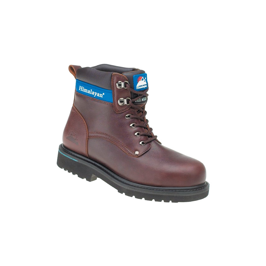 f4d8b2f9761 3103 Full Grain Leather Brown Safety Boots - Size 7