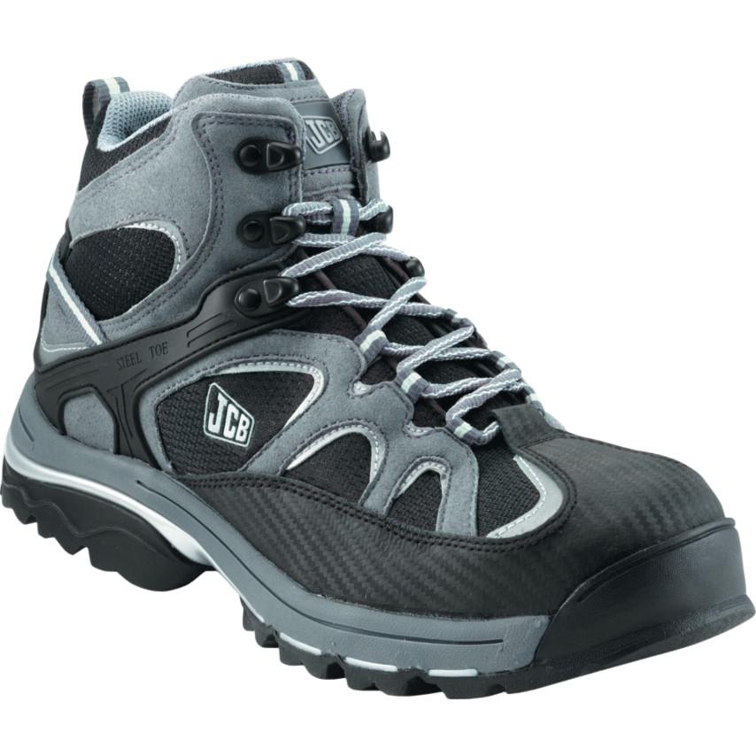 4d91922e076 JCB Trakmid/GB Black/Grey Safety Boots Size - 10 TRAKMID/GB   Cromwell Tools