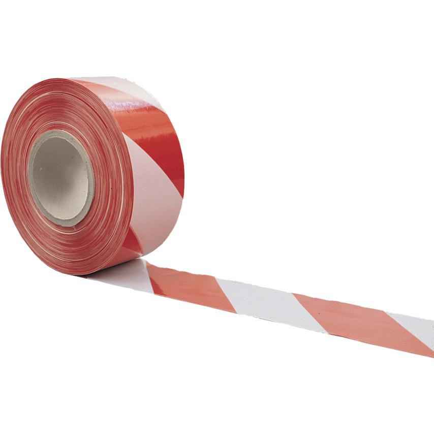 cde3cb898d7 Barrier Tape - Non Adhesive 75mm x 500m Red   White Barrier Tape   Dispenser  Box